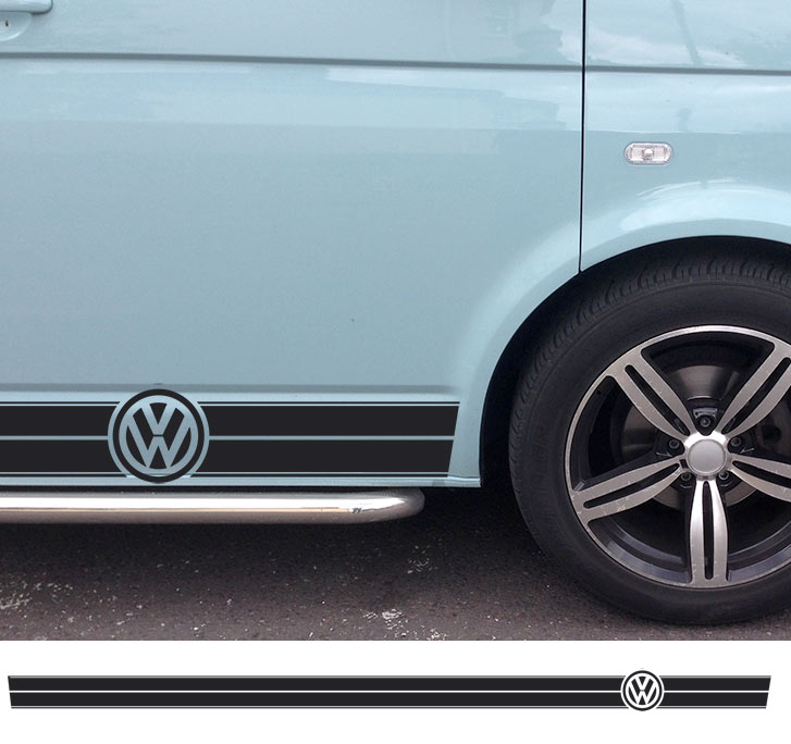 The Classic Vw Side Stripe Decal Sticker For Volkswagen