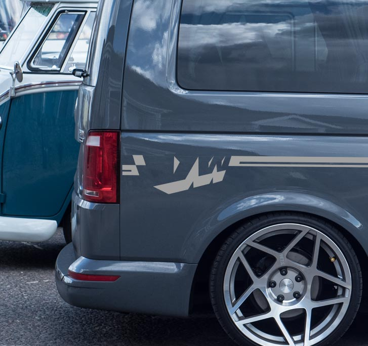 Vw Transporter Graphical Side Decals Sticker Stripe For