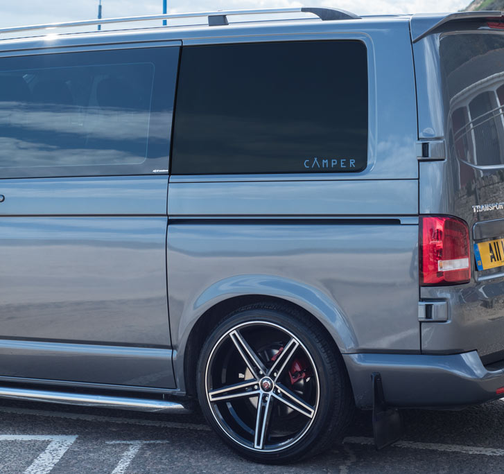 Rear Quarter Graphical Side Stickers For Volkswagen T5 And