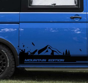 VW Transporter mountain side decal sticker decal